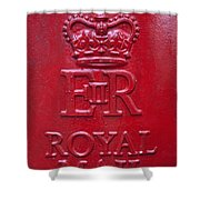Detail Of Old Royak Mail Post Box Shower Curtain