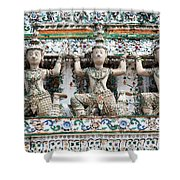 Detail Of Temple, Thailand Shower Curtain