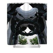 Detail World War II Memorial Shower Curtain