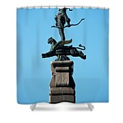 Detailed Images Of Statues In Almaty Shower Curtain