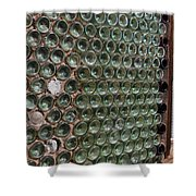 Detailed View Of Bottle House At Calico California Shower Curtain