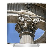 Detailed View Of Corinthian Order Column Shower Curtain
