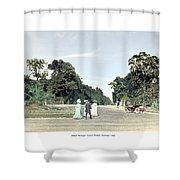 Detroit - Belle Isle Park - Central Avenue - 1905 Shower Curtain