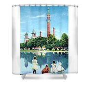Detroit - Gladwin Waterworks Park - Jefferson Avenue At The Detroit River - 1905 Shower Curtain