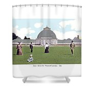Detroit - Horticultural Conservatory - Belle Isle Park - 1905 Shower Curtain