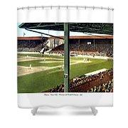 Detroit - Navin Field - Detroit Tigers - Michigan And Trumbull Avenues - 1914 Shower Curtain