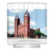 Detroit - Sheridan Avenue - St Anthony Catholic Church - 1910 Shower Curtain