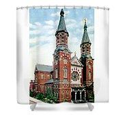 Detroit - St Mary Catholic Church - Monroe Avenue - 1910 Shower Curtain