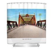 Detroit - The Belle Isle Bridge - 1908 Shower Curtain