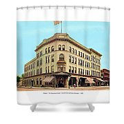 Detroit - The Brunswick Hotel - Grand Rive And Cass Avenues - 1900 Shower Curtain