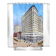 Detroit - The Lafayette Building - Michigan Avenue Lafayette And Shelby Streets - 1924 Shower Curtain
