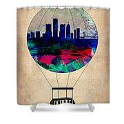 Detroit Air Balloon Shower Curtain