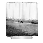 Detroit Auto Race, C1902 Shower Curtain