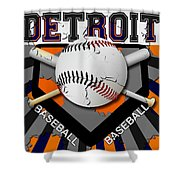 Detroit Baseball  Shower Curtain by David G Paul