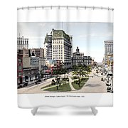 Detroit - Cadillac Square - 1905 Shower Curtain