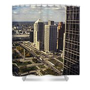 Detroit City Streets Michigan Shower Curtain