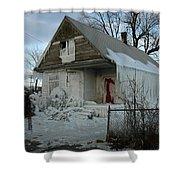 Detroit Ice House Shower Curtain
