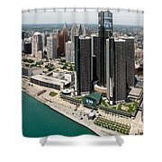 Detroit International Riverfront Shower Curtain