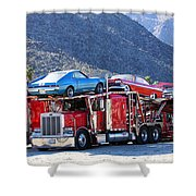 Iron Road Palm Springs Shower Curtain