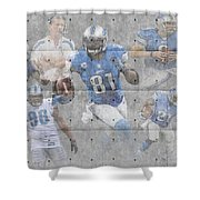 Detroit Lions Team Shower Curtain