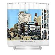 Detroit - Michigan And Griswold Avenues - 1910 Shower Curtain