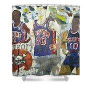 Detroit Pistons Bad Boys  Shower Curtain