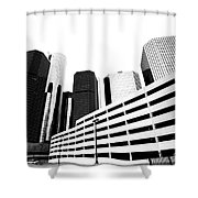 Detroit Ren Cen Shower Curtain