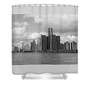 Detroit Skyscape Shower Curtain
