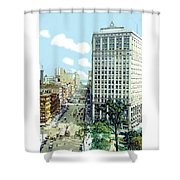 Detroit - The David Whitney Building - Woodward Avenue - 1918 Shower Curtain