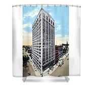 Detroit - The Kresge Building - West Adams Street - 1918 Shower Curtain