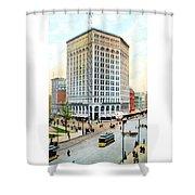 Detroit - The Majestic Building - Woodward Avenue - 1900 Shower Curtain
