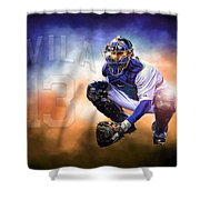 Detroit Tiger Alex Avila Shower Curtain