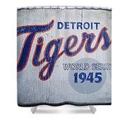 Detroit Tigers Wold Series 1945 Sign Shower Curtain