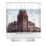 Detroit - Union Depot - Fort Street - 1907 Shower Curtain