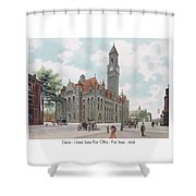 Detroit - United States Post Office - Fort Street - 1908 Shower Curtain