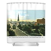Detroit - Woodward Avenue North Grand Circus Park - Central Methodist Episcopal Church - 1920 Shower Curtain