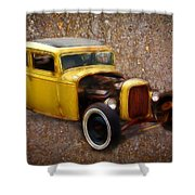 Deuce Coupe On Rust  Shower Curtain