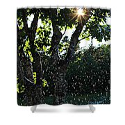 Devil Beating His Wife - Weather Phenomena Shower Curtain
