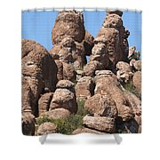 Devil Canyon Rim Rocks Shower Curtain