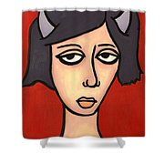 Devil Girl Shower Curtain