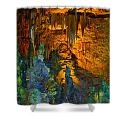 Devils Cavern Bari Greece Shower Curtain