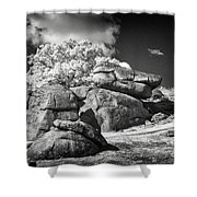 Devils Den - Gettysburg Shower Curtain by Paul W Faust -  Impressions of Light