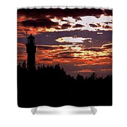 Devil's Island Lighthouse Shower Curtain