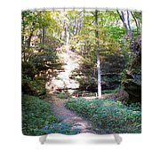 Devil's Punch Bowl Wildcat Den Shower Curtain