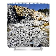 Devils Thumb - Yellowstone Shower Curtain