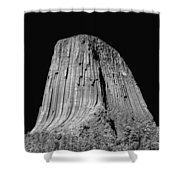 109851-bw-devil's Tower 2  Shower Curtain