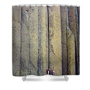 Devil's Tower Climbers Shower Curtain