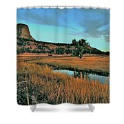 Devils Tower Daybreak Shower Curtain
