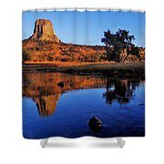 Devils Tower Morning Shower Curtain