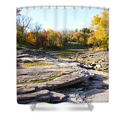 Devonian Fossil Gorge Coralville Lake Ia 3 Shower Curtain